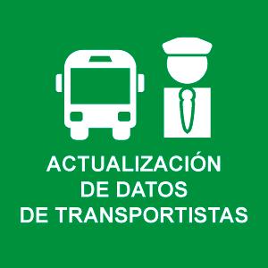 Actualización de datos de Transportistas
